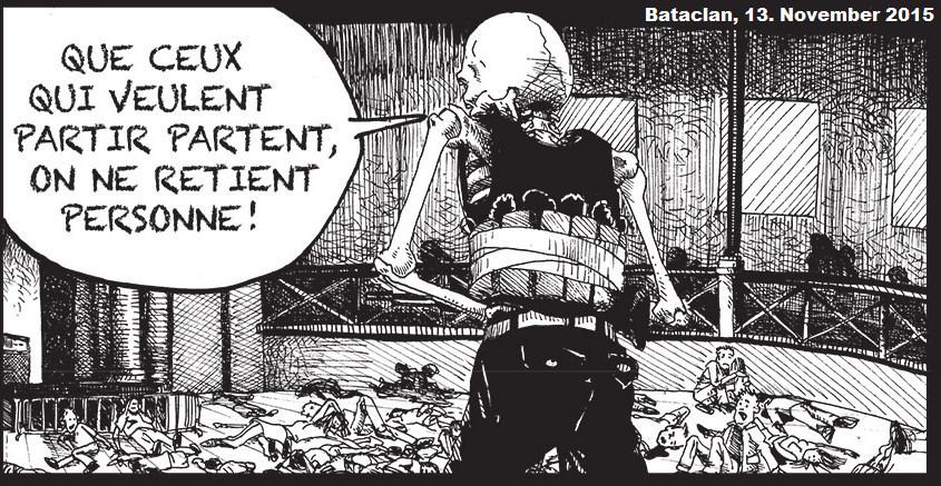 Islamisten im Bataclan